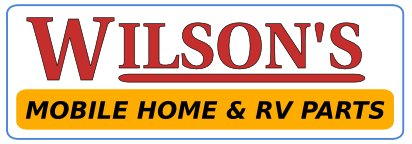 wilsons mobile home and rv parts store logo