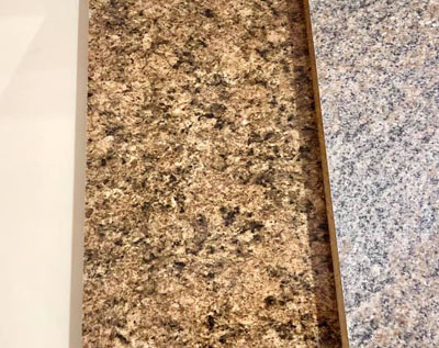 kitchen counter samples for kitchen remodeling and home improvement projects