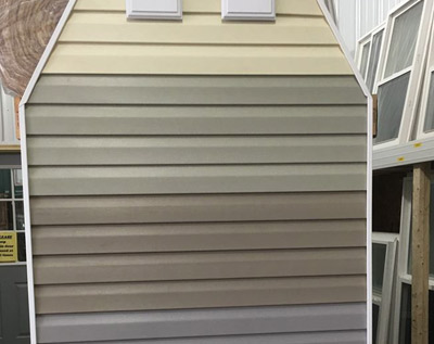 available color selections of vinyl siding